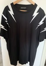 Neil Barrett Thunderbolt Print T Shirt