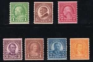 US STAMP #597 //  606  1923-29 Rotary Press Coil mh/og STAMPS LOT