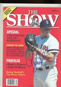 ROGER CLEMENS BOSTON REDSOX THE SHOW MAGAZINE signed autographed