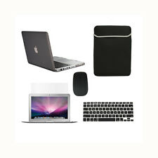 """5in1 Rubberized BLACK Case for Macbook PRO 13"""" + Keyboard Cover +LCD+ Bag +Mouse"""