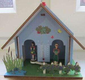Wetterhaus Gartenhaus Blau