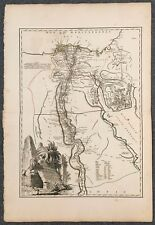 "Robert de Vaugondy original map ""Carte de L'Egypte"" circa 1753"