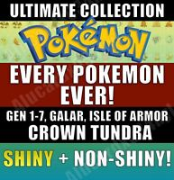 6000 Pokemon Home - Every Pokemon! Sword and Shield - CROWN TUNDRA-FULL POKEDEX