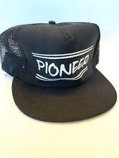 Vintage Mesh SnapBack Trucker Hat Cap Pioneer Made In USA Black & White