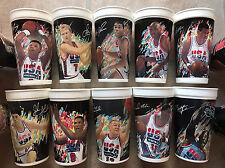 Original '92 Dream Team, NBA Olympics McDonalds Collectible Cups, set of 18, EUC