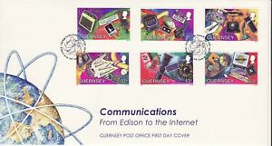GB Stamps First Day Cover Guernsey Communication,TV,phone,computer,CD,paper 1997