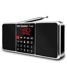 Digital Fm Radio Media Speaker Mp3 Music Player Support Tf Card Usb Drive W N4A6