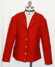 RED ~ BOILED WOOL Women German Winter OUTDOOR WARM Walk Sweater JACKET 48 12 M