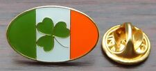 Oval Ireland Flag & Shamrock Lapel Hat Cap Tie Pin Badge Brooch Irish Republic