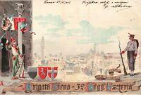 CARTOLINA REGGIMENTALE - 32° REGGIMENTO FANTERIA BRIGATA SIENA - VG 1902