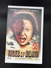 Faces Of Death 2 Ex-Rental Vintage Big Box VHS Tape English with dutch subs