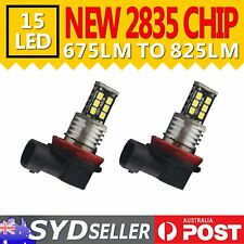 2x H11 LED Head Fog Light Bulbs Car Driving DRL 6000K Super White Replacement