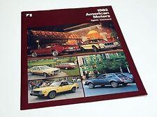 1982 American Motors AMC Spirit Concord Preview Brochure