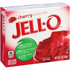 4Pk (12oz total) Jell-O Cherry Gelatin ~* FAST FREE SHIPPING ! *~