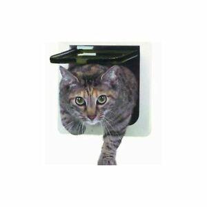 """Ideal Pet Product Cat Small Door Flap Transparent Unbreakable Rigid 6.25x 6.25"""""""