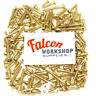 100g, 'MIXED IN THE PACK' SOLID BRASS ROUND HEAD SLOTTED WOOD SCREWS WOODSCREWS
