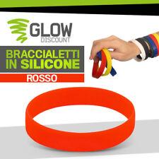 50* BRACCIALETTI COLORATI ROSSO bracciali rossi polsino anallergico gomma 926043