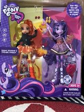 "New My Little Pony Equestria Girls Sunset Shimmer & Twilight Sparkle 13"" Figures"