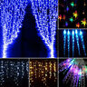 LED Curtain Lights Icicle Fairy String Lights Wedding Party Garden Outdoor Decor