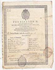 AA484-ABRUZZO-AQUILA-CAPITIGNANO PASSAPORTO 1835