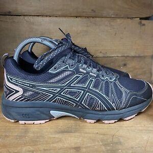 Asics Gel Venture 7 1012B041 Women's Running Sneakers Size 7.5 Wide Black/Pink