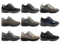Scarpe da donna IGIeCO sneakers casual zeppa basse comode vera pelle invernali