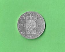 Nederland zilveren Rijksdaalder 1845 Willem II