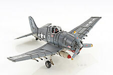 "Grumman F6F Hellcat Fighter Aircraft Metal Desk Model 12"" WWII Airplane Decor"