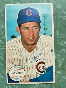 Ron Santo Autographed 1964 Topps Giants Baseball Card #58 Chicago Cubs