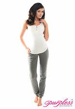 Purpless Maternity Pregnancy Over Bump Joggers Trousers 1307 8 Dark Gray