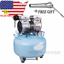 US SALE Dental Medical silent Noiseless Oil fume Oilless Air Compressor UNIT 30L