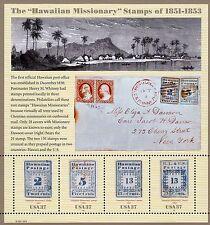 US HAWAIIAN 2002 SCOTT #3694 37c MISSIONARIES VINTAGE MVF SOUVENIR 4 STAMP SHEET
