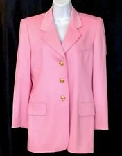 Escada Jacket Pink Wool And Cashmere Gold Buttons Size 36/6
