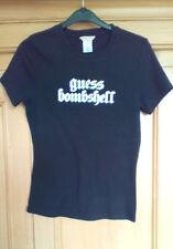 GUESS Ladies Black Round Neck Short Sleeve Cotton T Shirt, size Large