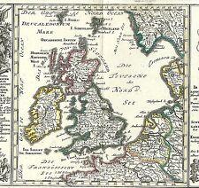 Antique map, Geographische vorstellung der konigreiche Gros Brittannien und Irla