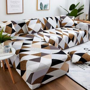 Housse Canapé d'angle avec Accoudoirs Modèle L Protecteur Extensible pour salon