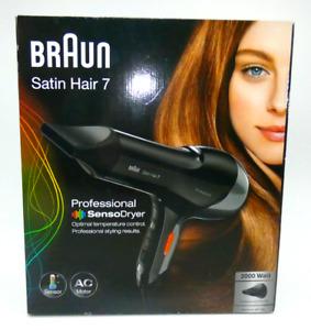 Braun Satin Hair 7 SensoDryer Haartrockner HD 780, mit Thermosensor Schwarz OVP