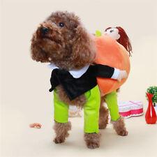 EE_ AM_ EG_ Cute Puppy Pet Pumpkin Suit Masquerade Costume Hallowmas Xmas Dog Ap