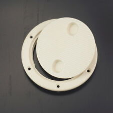 4'' Screw Out Deck Plate Inspection Hatch Round Plastic Access Boat RV Splendid