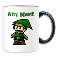 Personalised Gift Elf Boy Mug Money Box Cup Fairy Tale Name Christmas Xmas Hat