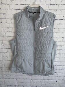 Nike Essential Running Full Zip Vest Gray Men's XL