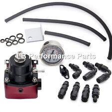 160 PSI de presión de combustible universal ajustable Regulador Kit del FPR AN6 -6 Negro