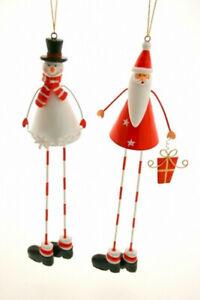 Metal long legged snowman or Santa