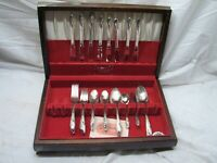 Holmes & Edwards Inlaid IS Romance Silverplate Flatware Set 52 pcs Flatware B