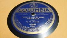 AL JOLSON COLUMBIA 78 RPM RECORD 2491 THERE'S A LUMP OF SUGAR DOWN IN DIXIE
