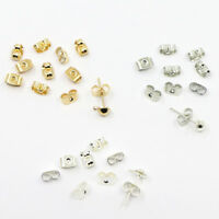 SILVER gold  plated BUTTERFLY EARRING BACKS STOPPERS 3.5X5mm 50pcs 25pairs