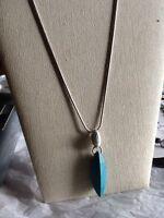 Lia Sophia Turquoise Color & White Marble Style Stone Necklace NWT