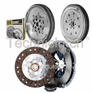ECOCLUTCH 3 PART CLUTCH KIT AND LUK DMF FOR AUDI A3 CONVERTIBLE 1.6 TDI