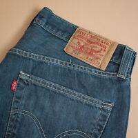 Vintage Levi 501 Jeans Blue Straight Button Fly Unisex (Patch W34L34) W 34 L 29