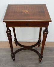 elegante tavolino portagioielli  Napoleone III 1870 in palissandro con intarsi